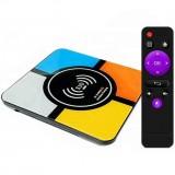 Смарт ТВ приставка S10 Plus с Qi зарядкой