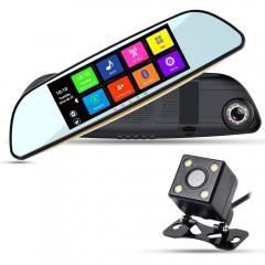 Автомобильный видеорегистратор-зеркало с двумя камерами XPX ZX827