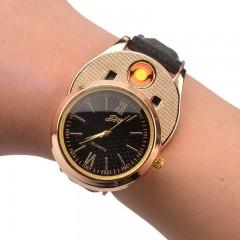 Наручные кварцевые часы + электронная USB-зажигалка