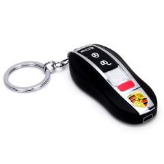 Электронная USB зажигалка-брелок «PORSCHE» без газа