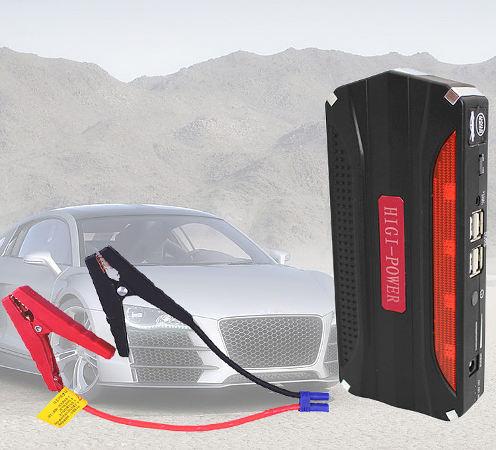Автомобильный пусковой аккумулятор с насосом