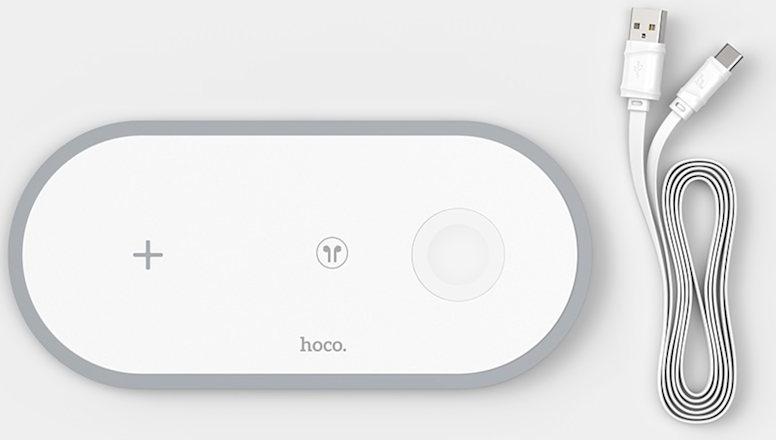 Беспроводное зарядное устройство 3-в-1 - HOCO CW24