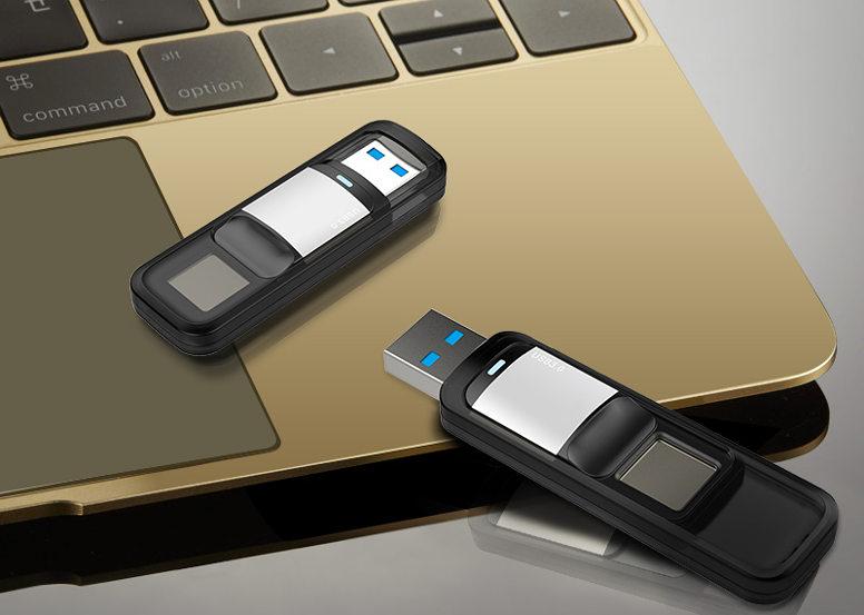USB-флешка с защитой отпечатком пальца