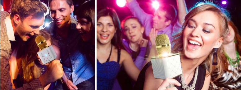 Караоке микрофон с колонкой Q7