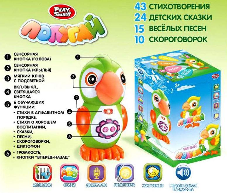 Интерактивная игрушка Умный попугай