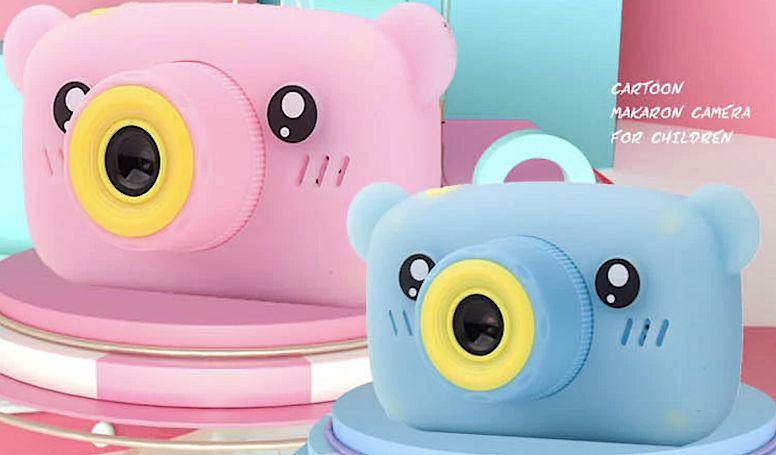 Детский фотоаппарат Мишка с играми