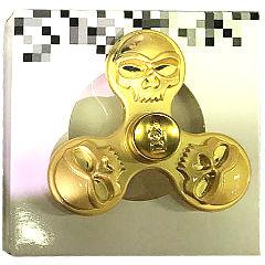Спиннер с черепами золотой
