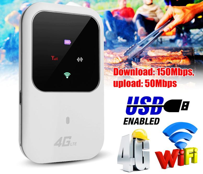 Мобильный 4G LTE Wi-Fi роутер 150 Мбит/с