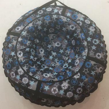 Надувные санки черные с рисунком