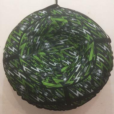 Надувные санки зелено-черные