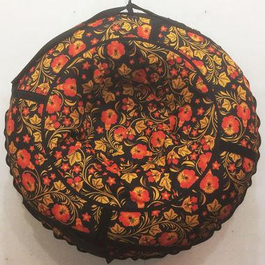 Надувные санки расцветка хохлома