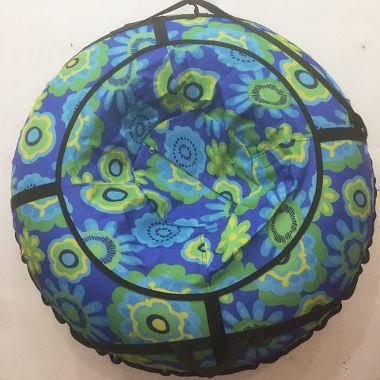 Надувные санки сине-зеленые