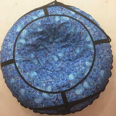 Надувные санки сине-голубые