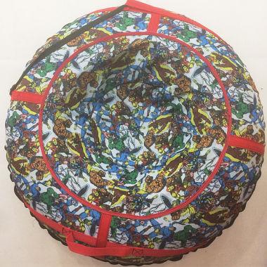 Санки-ватрушка для катания с горки цветные