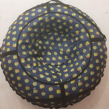 Надувные санки со смайлами