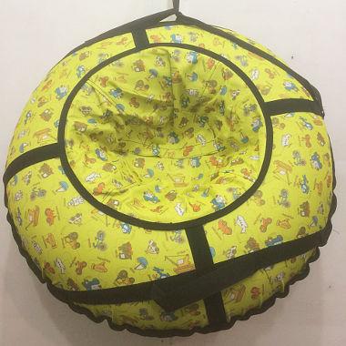 Надувная ватрушка желтая