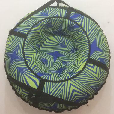Надувные санки зелено-синие