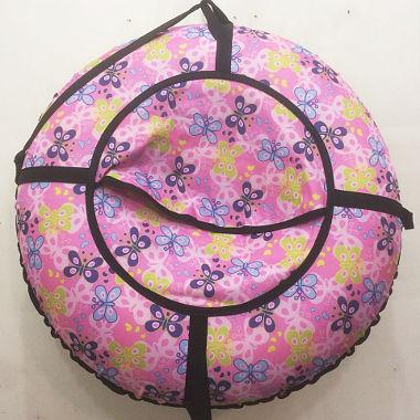 Надувная ватрушка розовая