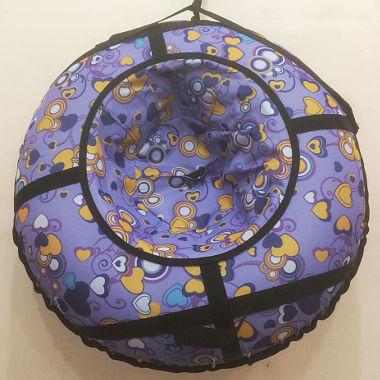 Надувная ватрушка фиолетовая