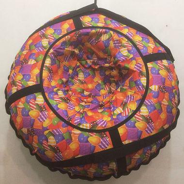Надувная ватрушка оранжевая