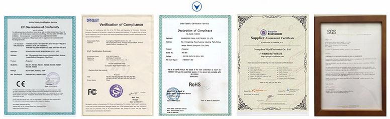 Проектор RD-805B сертификаты