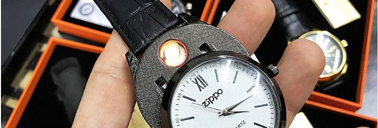 Мужские наручные часы-зажигалка ZIPPO
