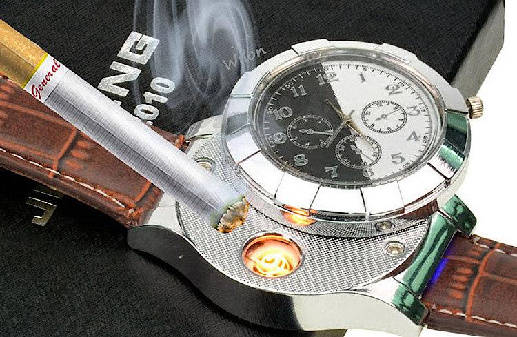 Мужские наручные часы со встроенной зажигалкой