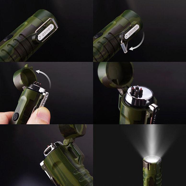 Водонепроницаемая зажигалка с фонариком